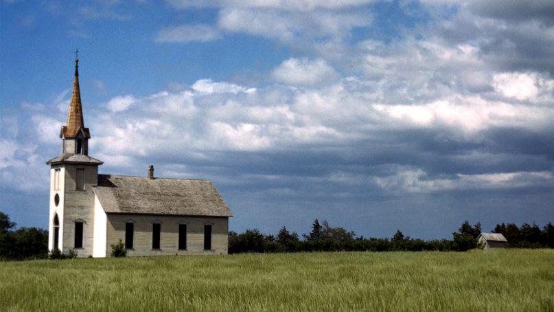 A rural church in Kansas. Photo by John Vachon/LOC/Creative Commons
