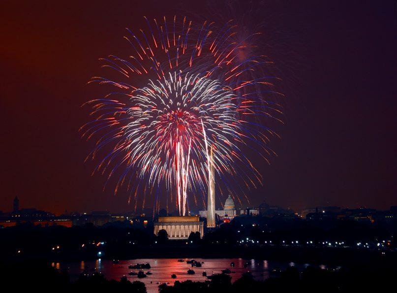 Fourth of July fireworks over Washington. Photo courtesy of Creative Commons