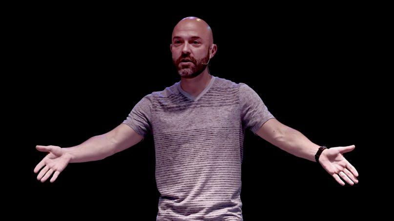 Joshua Harris delivers a TEDx Talk in 2017. Video screenshot