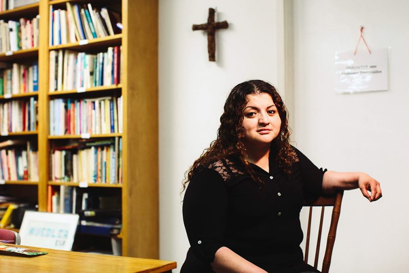 Rosa Ortez Cruz has been in santuary at the Church of Reconciliation in Chapel Hill, N.C., since April 2018. Photo by Stef Bernal Martinez