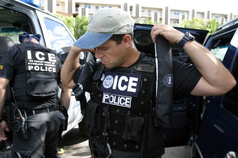U.S. Immigration and Customs Enforcement officers. Photo courtesy of Creative Commons