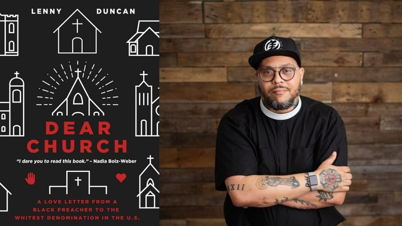 """""""Dear Church"""" cover and author Rev. Lenny Duncan. Photo courtesy of Fortress Press"""