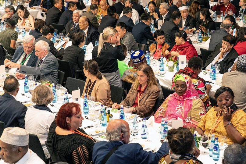 Opening banquet of the Religions for Peace 10th World Assembly on Aug. 20, 2019, in Lindau, Germany. Photo by Christian Flemming/Religions for Peace