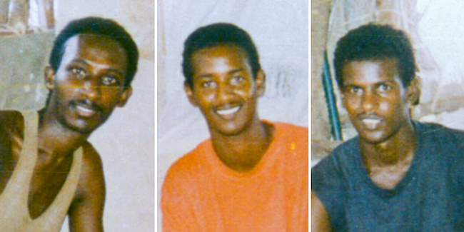 Paulos Eyasu, Isaac Mogos, and Negede Teklemariam, who have been in prison in Eritrea since September 17, 1994. Image copyright: Jehovah's Witnesses Office of Public Information