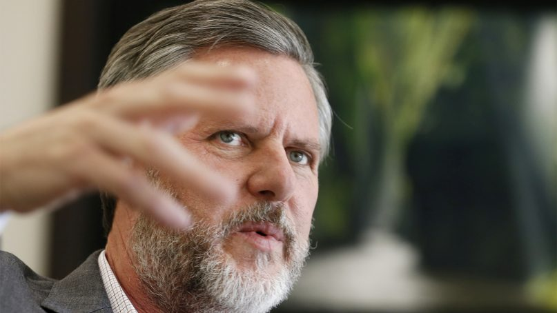 Jerry Falwell Jr. resigned after 13 years serving as president of Liberty University. (AP Photo/Steve Helber)