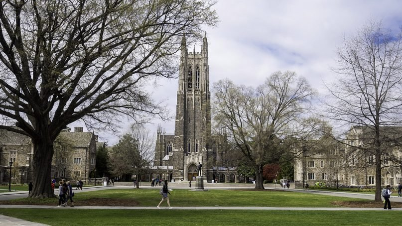 Duke Chapel, center, sits at the heart of the Gothic-style campus in Durham, N.C. Photo courtesy of Creative Commons