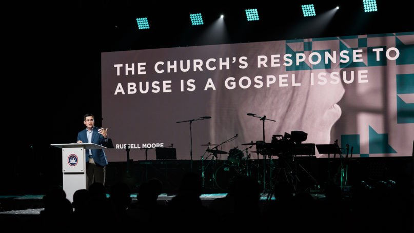 The Rev. Russell Moore addresses the Caring Well conference in Dallas on Oct. 3, 2019. Photo by Karen Race Photography, courtesy of ERLC