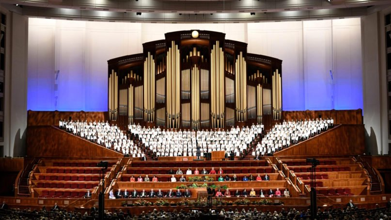 Scene from the 189th General Conference of the Church of Jesus Christ of Latter-day Saints, Oct. 5-6, 2019, in Salt Lake City. Photo courtesy of Intellectual Reserve, Inc.