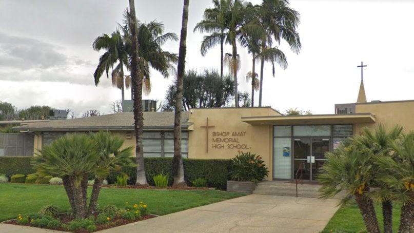 Bishop Amat Memorial High School in La Puente, California, near Los Angeles. Photo courtesy of Google Maps