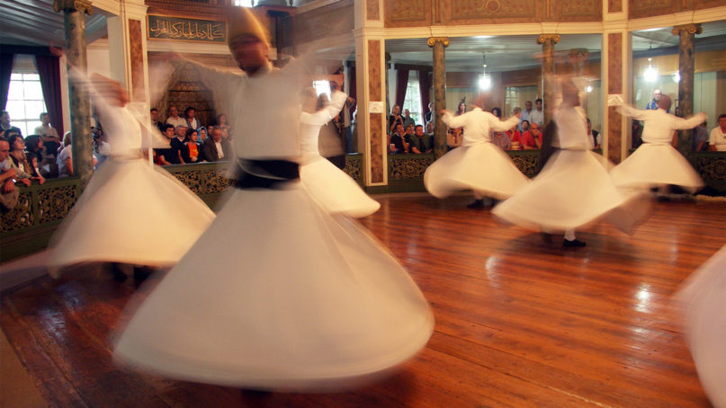 The Semahane, or prayer hall, of the Galata Mevlevihanesi  in Istanbul, Turkey, is a space where the Mevlevi order of whirling dervishes have prayed and performed since 1491. Courtesy photo