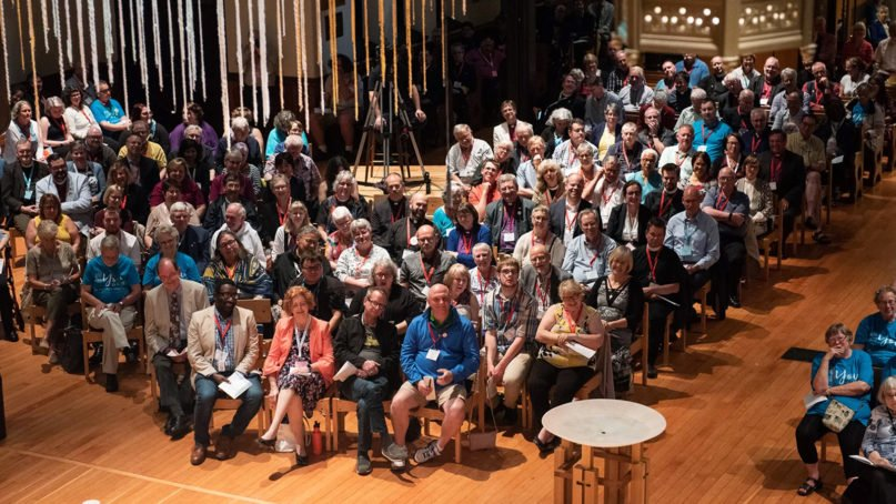 General Synod 2019 opens on the evening of July 10, 2019 with worship at Christ Church Cathedral in downtown Vancouver, British Columbia. Photo courtesy of Anglican Church of Canada/Milos Tosic