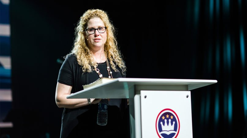 Megan Lively speaks at the Caring Well conference in Dallas on Oct. 3, 2019. Photo by Karen Race Photography, courtesy of ERLC