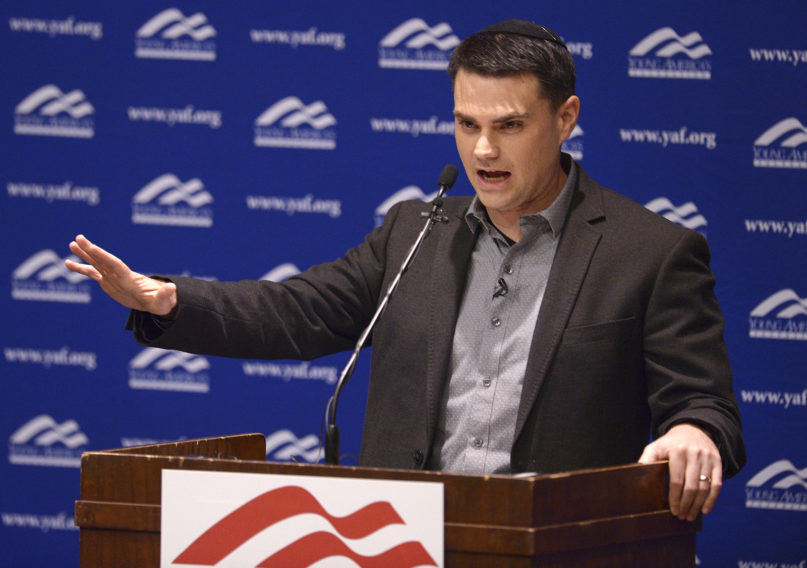 Controversial conservative commentator Ben Shapiro, editor-in-chief of the Daily Wire and former editor-at-large of Breitbart News, addresses the student group Young Americans for Freedom at the University of Utah's Social and Behavioral Sciences Lecture Hall, Wednesday, Sept. 27, 2017. (Leah Hogsten/The Salt Lake Tribune via AP, Pool)