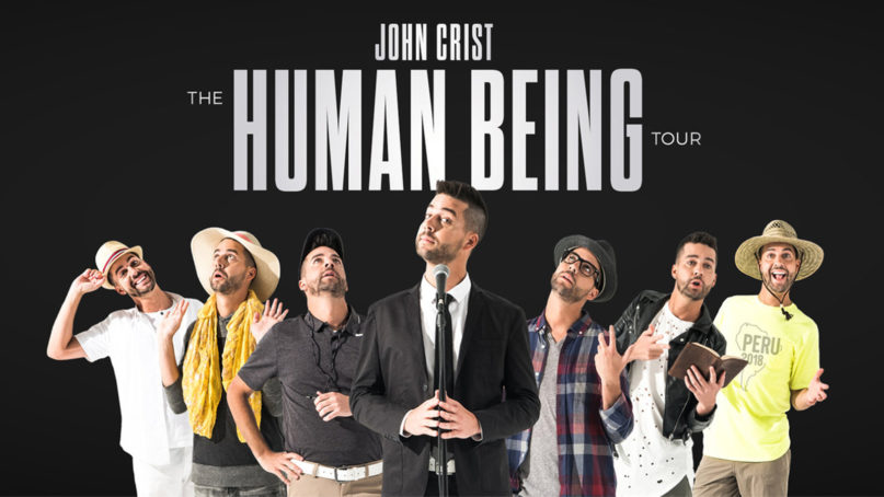 Jon Crist's Netflix special, based on his Human Being tour, has been put on hold. Image courtesy of Premier Productions