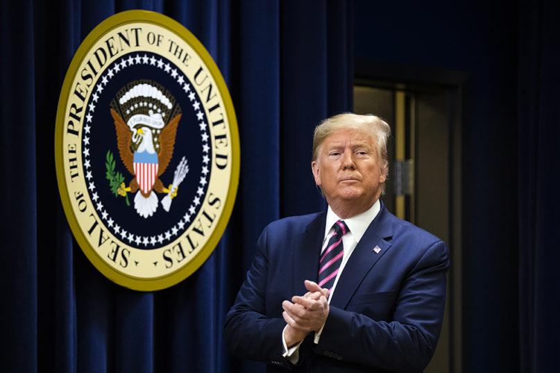 President Donald Trump during a summit at the Eisenhower Executive Office Building on Dec. 19, 2019, in Washington. (AP Photo/Manuel Balce Ceneta)