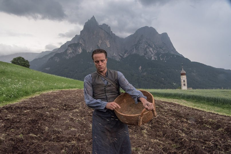 """August Diehl portrays Austrian farmer Franz Jägerstätter in the film """"A Hidden Life,"""" directed by Terrence Malick. Photo courtesy of FOX Searchlight Pictures"""