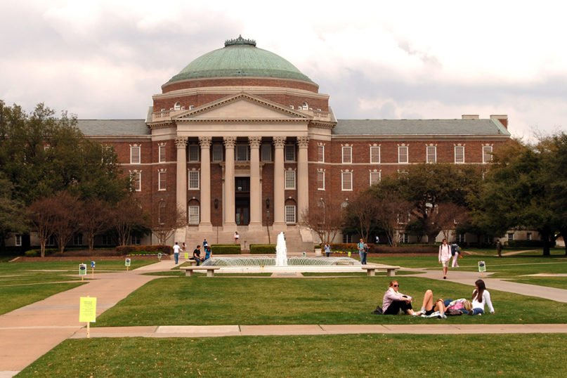 Dallas Hall on the campus of Southern Methodist University, in Dallas. Photo by Ed Uthman/Creative Commons