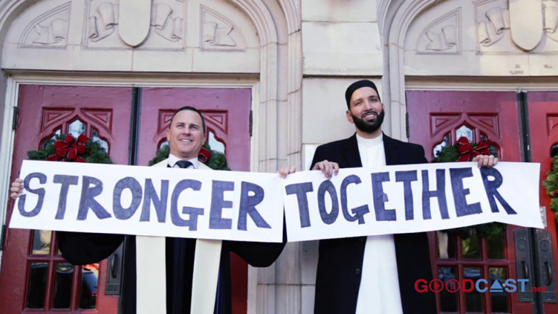 The Rev. Andy Stoker, left, and Imam Omar Suleiman in Dallas. Photo courtesy of Omar Suleiman