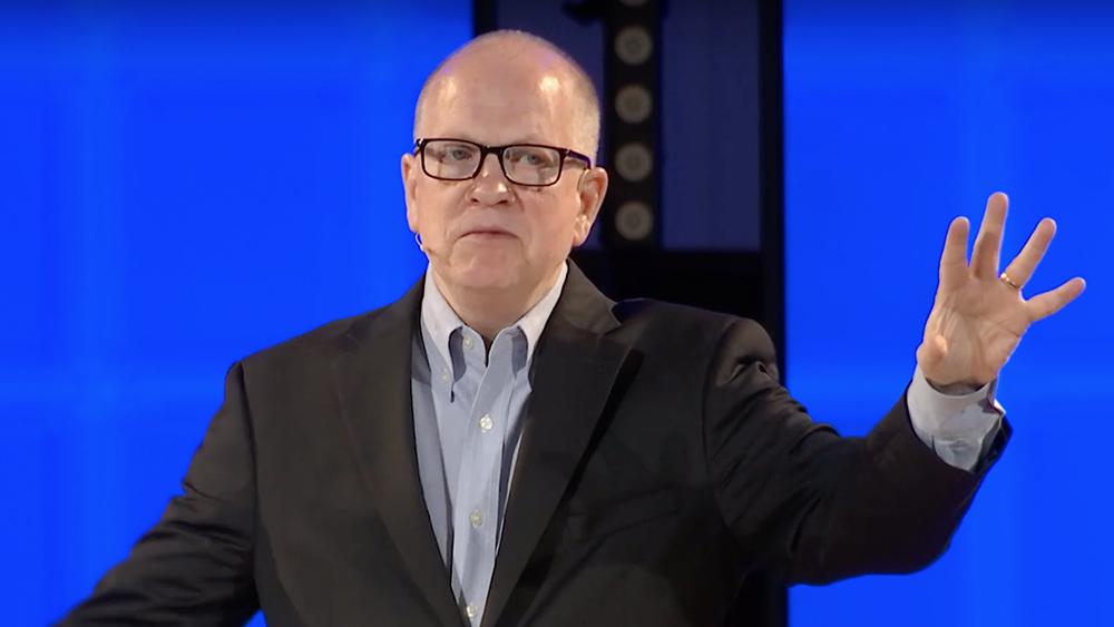 Southeastern Baptist Theological Seminary President Daniel Akin preaches in May 2019. Video screengrab via Southeastern Seminary