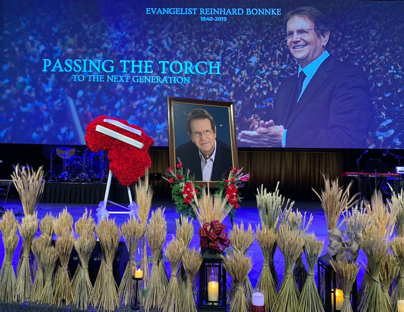 Funeral service for Reinhard Bonnke at Faith Assembly of God church in Orlando, Florida, on Jan. 4, 2019. Courtesy photo by Sarah M. Brown