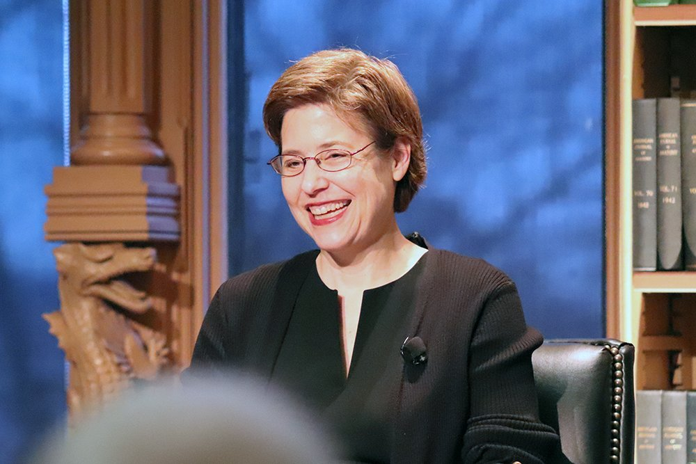 Melissa Rogers speaks at Georgetown University in Washington on Jan. 23, 2020. RNS photo by Adelle M. Banks