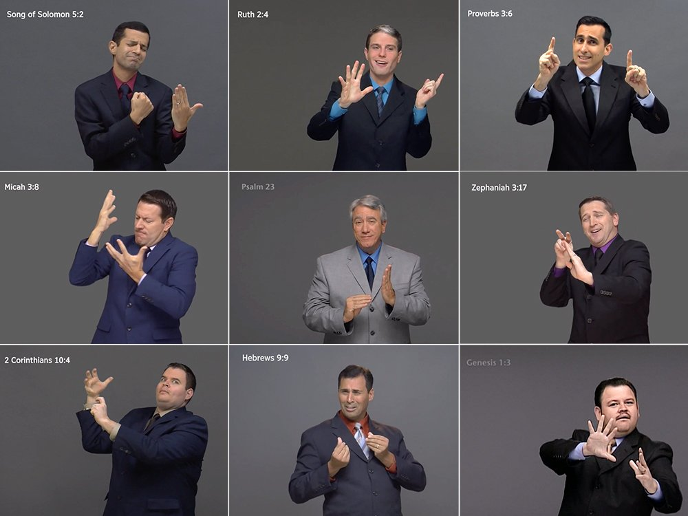 Jehovah's Witnesses Complete Entire Bible in American Sign Language