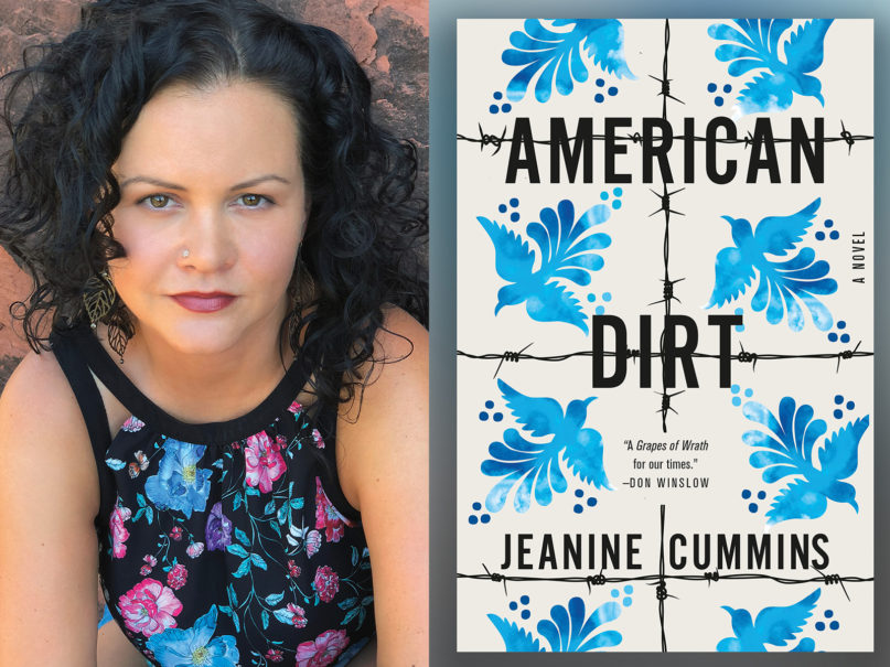 """Author Jeanine Cummins and her book """"American Dirt."""" Courtesy images"""