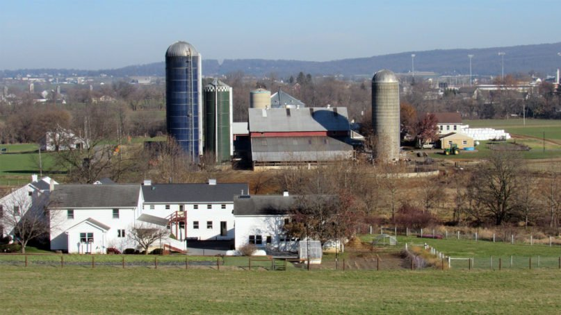 The farm of Eugene and Marie Lapp in Eastern Lancaster County, Pennsylvania. Photo by Elizabeth E. Evans