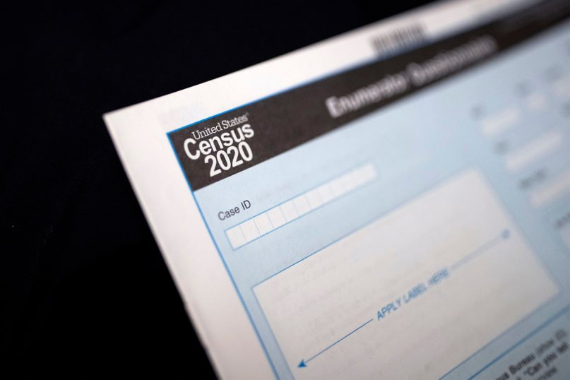A Census 2020 form. (AP Photo/Gregory Bull)