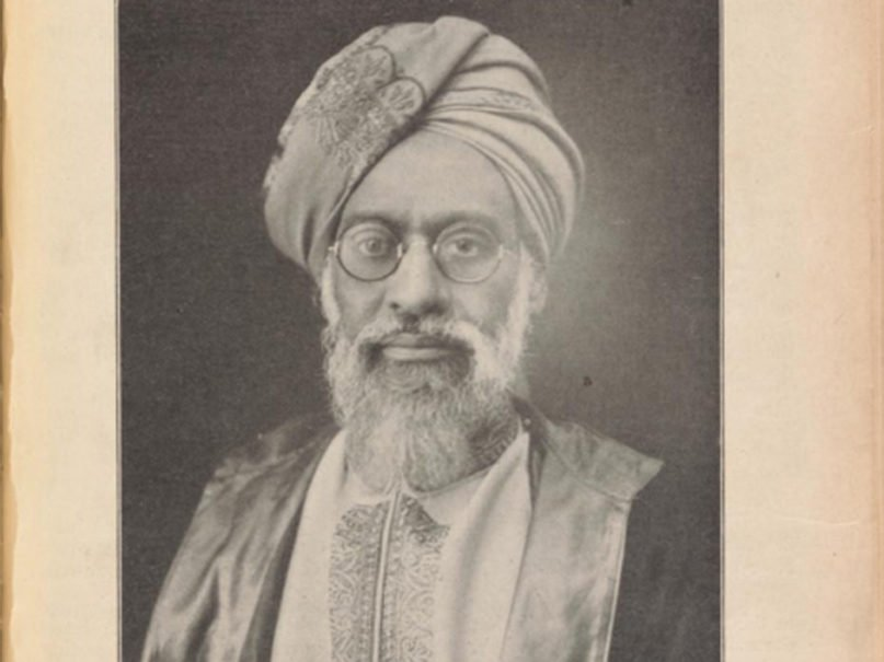 """Portrait of Mufti Muhammad Sadiq in a 1923 edition of """"The Moslem Sunrise,"""" a periodical he founded. Photo courtesy of Creative Commons"""
