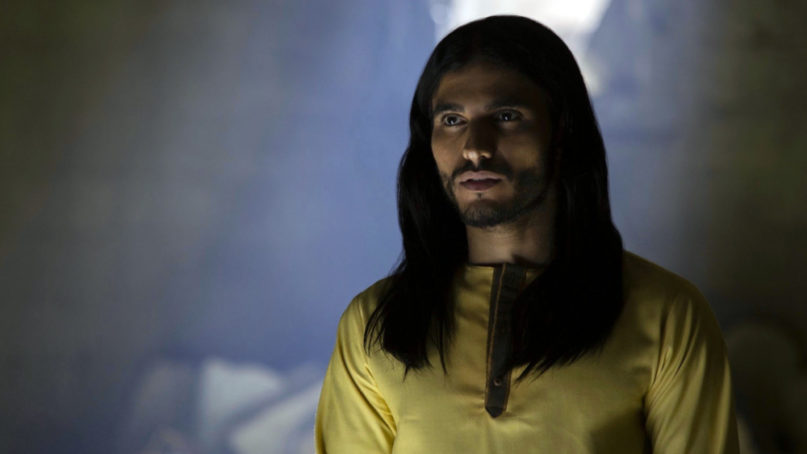 "Actor Mehdi Dehbi in Netflix's ""Messiah"" series. Photo courtesy of Netflix"