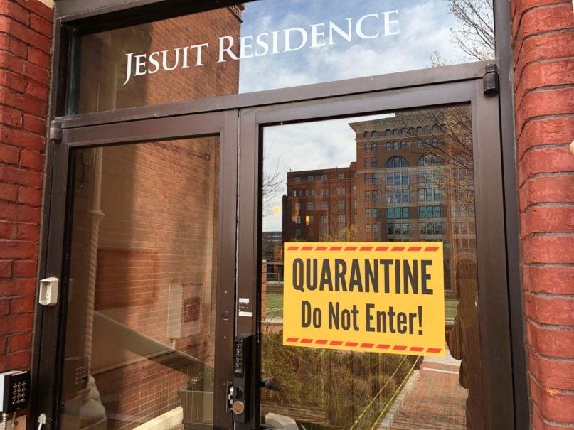 The Jesuit Residence on Eye Street NW in Washington, D.C., is under quarantine. RNS photo by Thomas Reese, SJ
