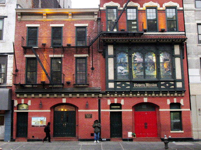 The Bowery Mission in Manhattan is the oldest Christian rescue mission in New York City. Photo by Beyond My Ken/Creative Commons