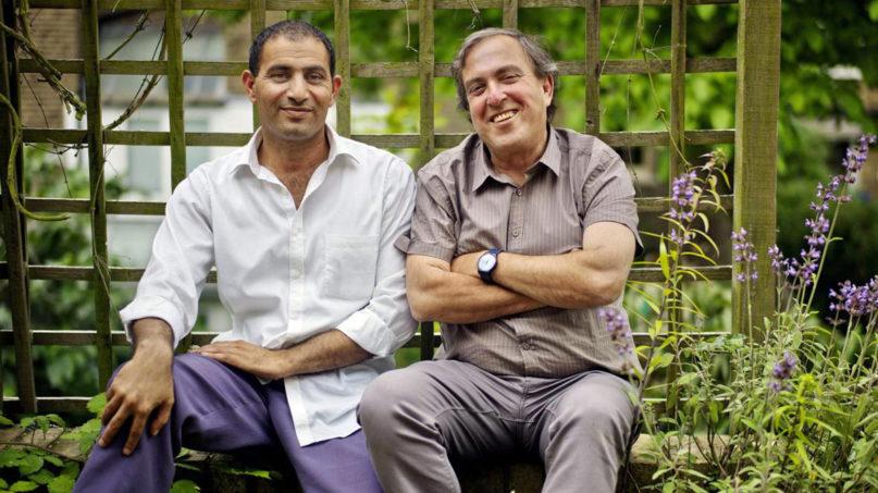 Palestinian Bassam Aramin, left, and his Israeli friend, Rami Elhanan. Photo by Sarah Lee/Eyevine