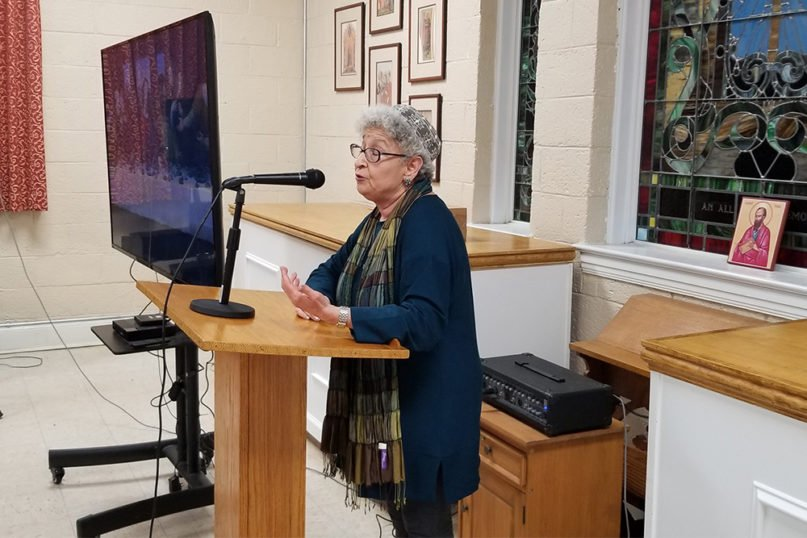 Rabbi Raachel Jurovics speaks at St. Paul's Episcopal Church in Smithfield, North Carolina. Jurovics was recently named rabbi in residence in the Episcopal Diocese of North Carolina. Photo courtesy of the Rev. Jim Melnyk