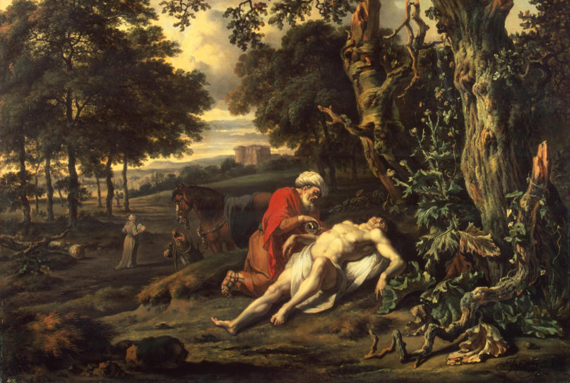 """Jan Wijnants' 1670 painting """"Parable of the Good Samaritan."""" Image courtesy of Hermitage Museum/Creative Commons"""