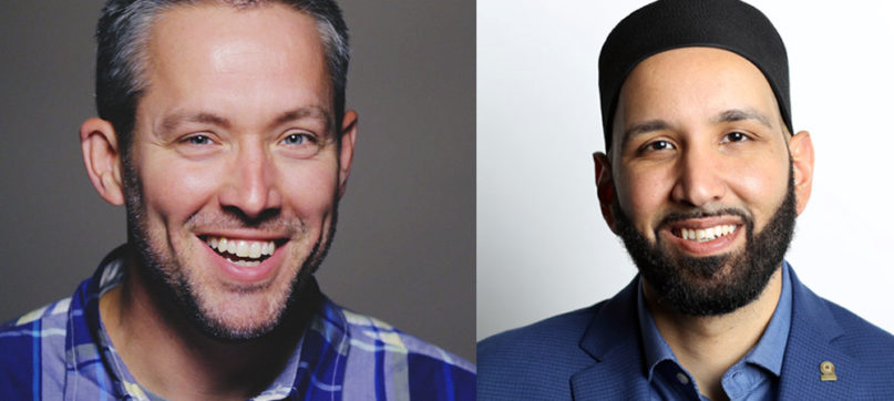 Southern Baptist Convention President J.D. Greear, left, and Yaqeen Institute founder Imam Omar Suleiman will participate in a conversation at North Carolina State University. Courtesy photos