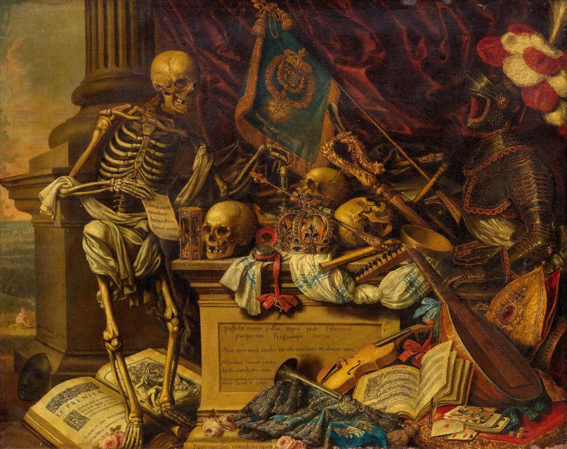 A Memento Mori still-life painting by Carstian Luyckx, circa 1650. Image courtesy of Creative Commons