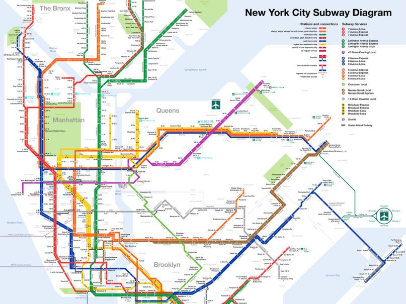 New York City subway diagram. Image courtesy of Creative Commons