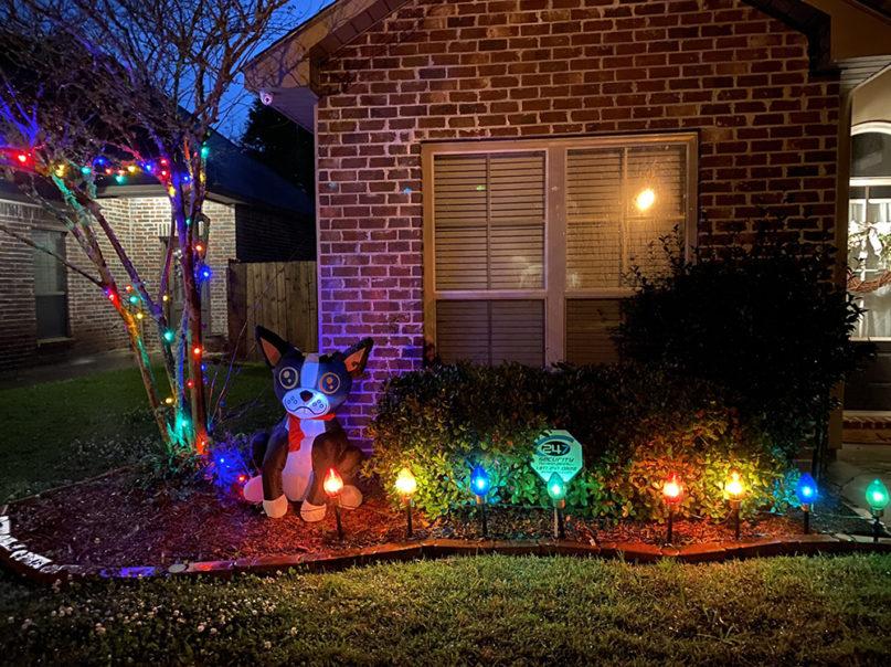 Holiday lights have been set up in Watson, Louisiana. Photo courtesy of Amanda Boudreaux