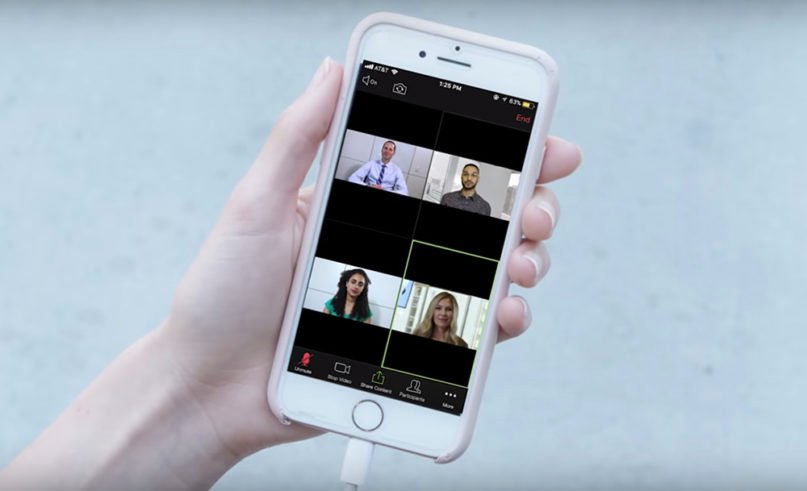 The Zoom app has recently been adopted by many houses of worship for video conferencing and streaming worship services. Video screengrab