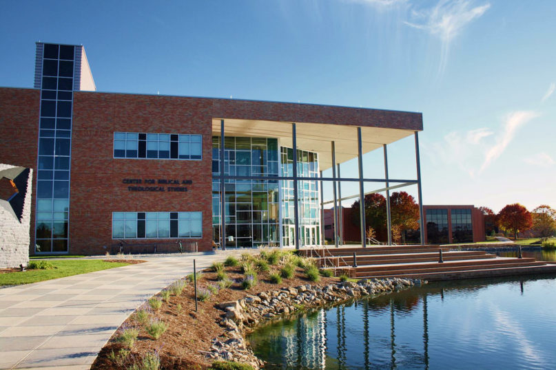 The Center for Biblical and Theological Studies at Cedarville University, in Cedarville, Ohio. Photo by Jeremy Mikkola/Creative Commons