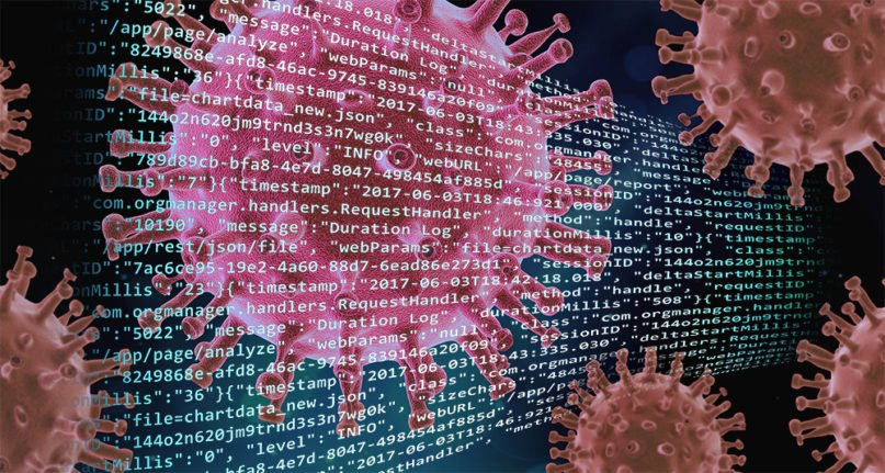 The novel coronavirus has led to an increased demand in church software, support and digital strategy. Illustration by Kit Doyle