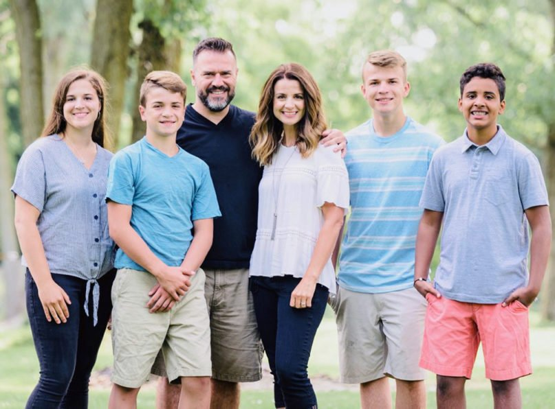 Pastor Dave Dummitt and his family. Courtesy photo