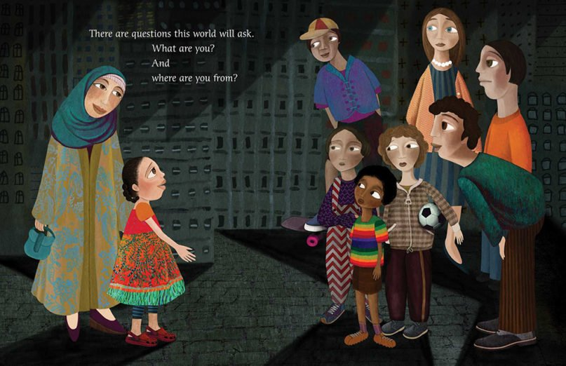 """Pages from the book """"Yo Soy Muslim."""" Image courtesy of Simon and Schuster"""