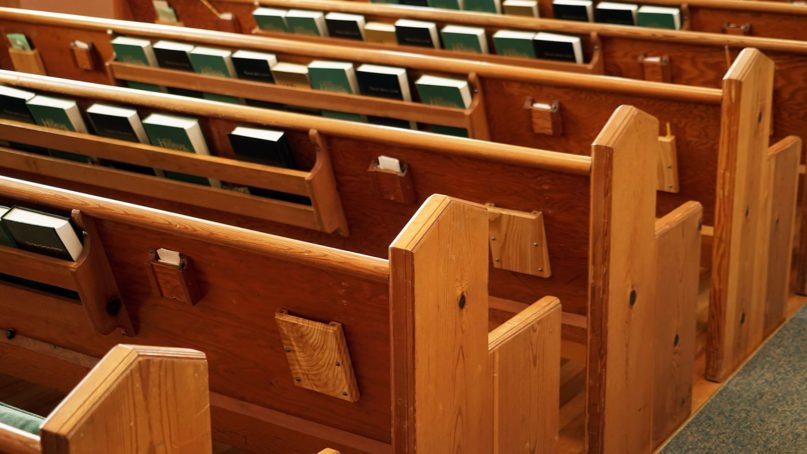 Empty pews in a church. Photo by Milt Ritter/Pixabay/Creative Commons