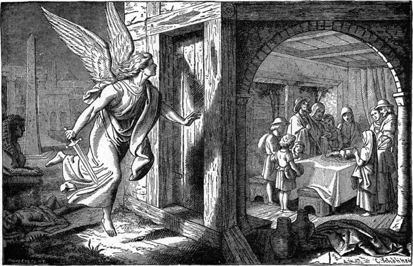 The Angel of Death and the First Passover in Egypt. Image courtesy of Creative Commons