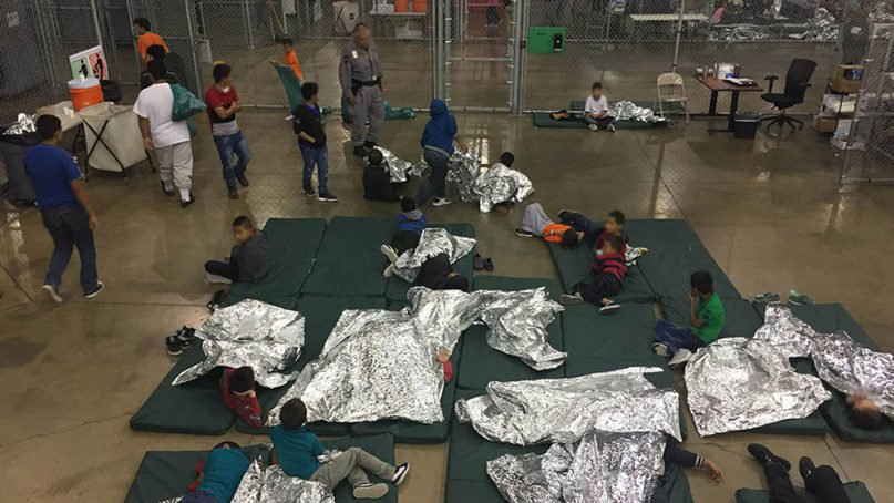 The Ursula migrant detention facility in McAllen, Texas, in June 2018. Photo by Customs and Border Protection/Creative Commons