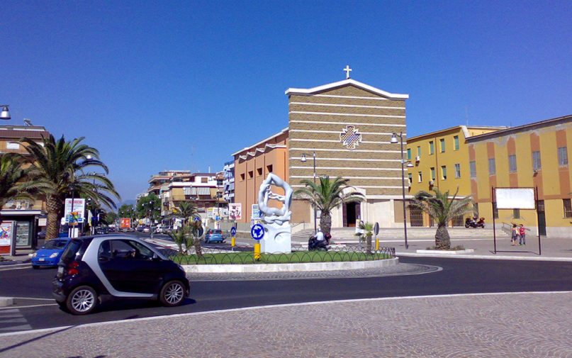 Blessed Virgin of the Immaculate church on Piazza Ungheria in Torvaianica, Italy. Photo by Andy90 at Italian Wikipedia/Creative Commons