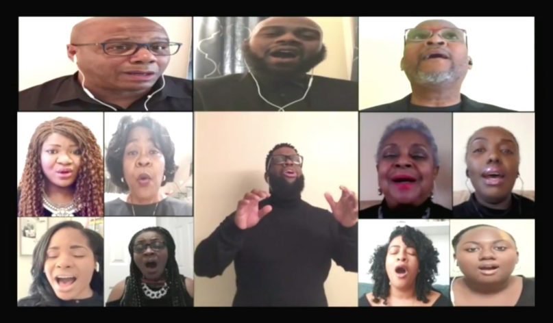 The virtual choir of Grace Baptist Church performs 'I Am Thine,' which was included in the April 19, 2020, online service from the Mount Vernon, New York, church. Video screengrab